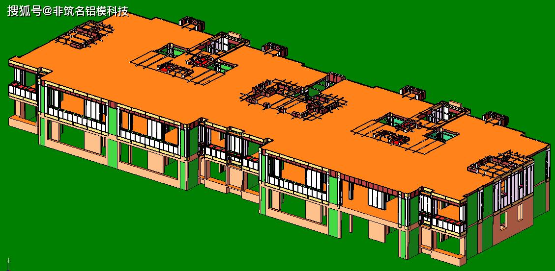 铝模板设计 万科装配式建筑铝模板设计免试拼之万科中央公园7#楼