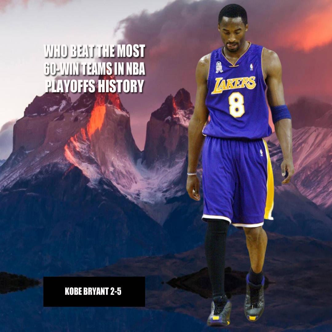 谁打败最多60胜球队?美媒给出8位NBA超巨,詹姆斯第4科比第7!
