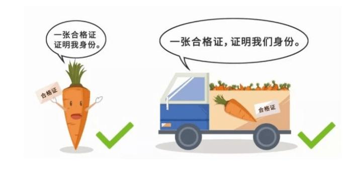 食用农产品合格证加上追溯进行有力传播