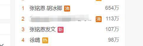 『徐璐』还否认与胡冰卿恋情,都被他玩了?张铭恩发文跟徐璐分手