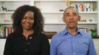 米歇尔奥巴马早就是视频直播达人,几件开架高街线衫就打败伊万卡