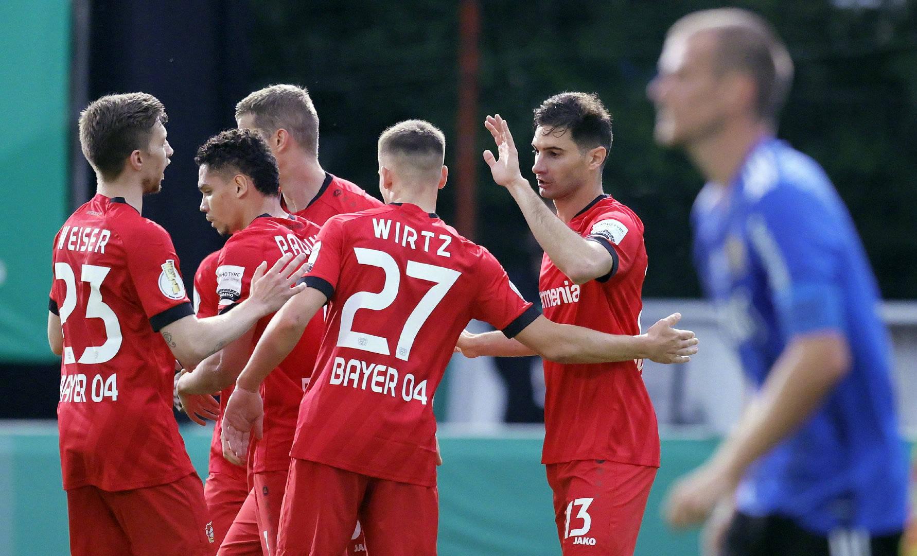 德国杯-哈弗茨缺阵德米尔拜2助攻 药厂3-0进决赛