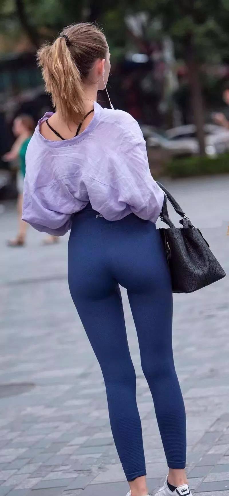 """好马配好鞍,穿""""蜜桃裤""""大玩性感的女生,身材好真不是开玩笑 减肥方法 第12张"""