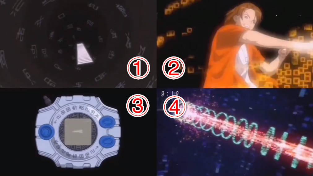 数码宝贝:亚古兽四个进化版本PK,BGM进化最经典,第四版最酷炫