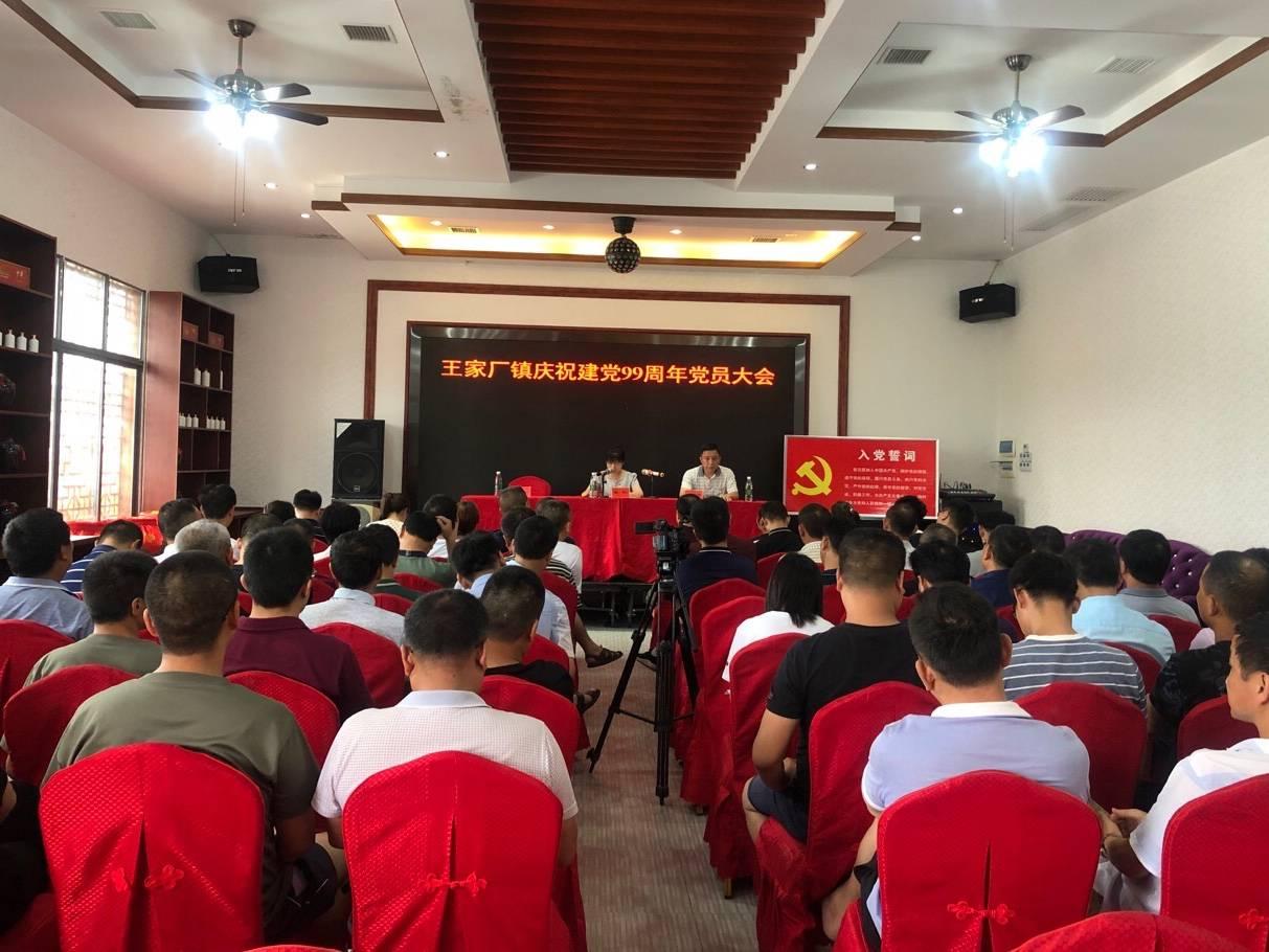 澧县王家厂镇:党员齐聚共贺中国共产党成立99周年