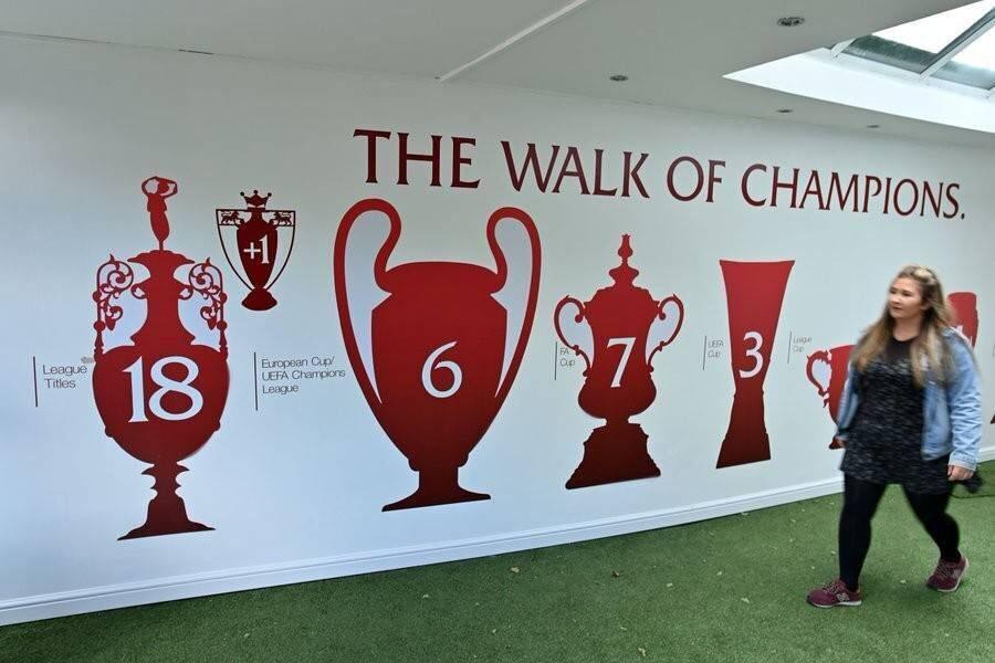 有才!利物浦冠军墙更新 联赛冠军数非19而是18+1