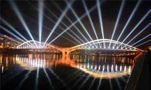 LE GRAND LYON 舒曼桥的灯光秀