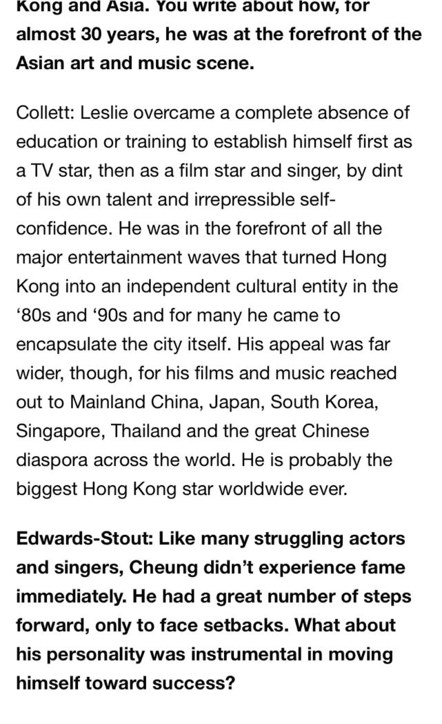 原创 英国记者写张国荣传记查出他在留学时就有男友,张氏父子因此决裂