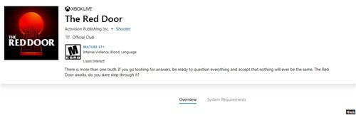 原创            微软商城上架动视新作《红门》或暗示COD新作