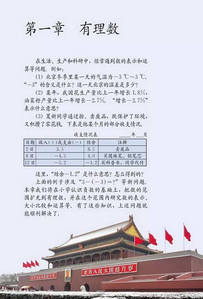 人教版初中数学七年级上册|电子课本(高清版)(图7)