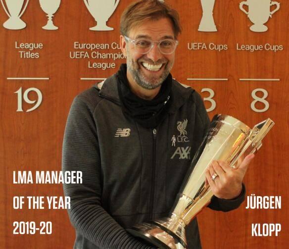 官方:克洛普荣膺教练协会年度最佳 以弗格森命名