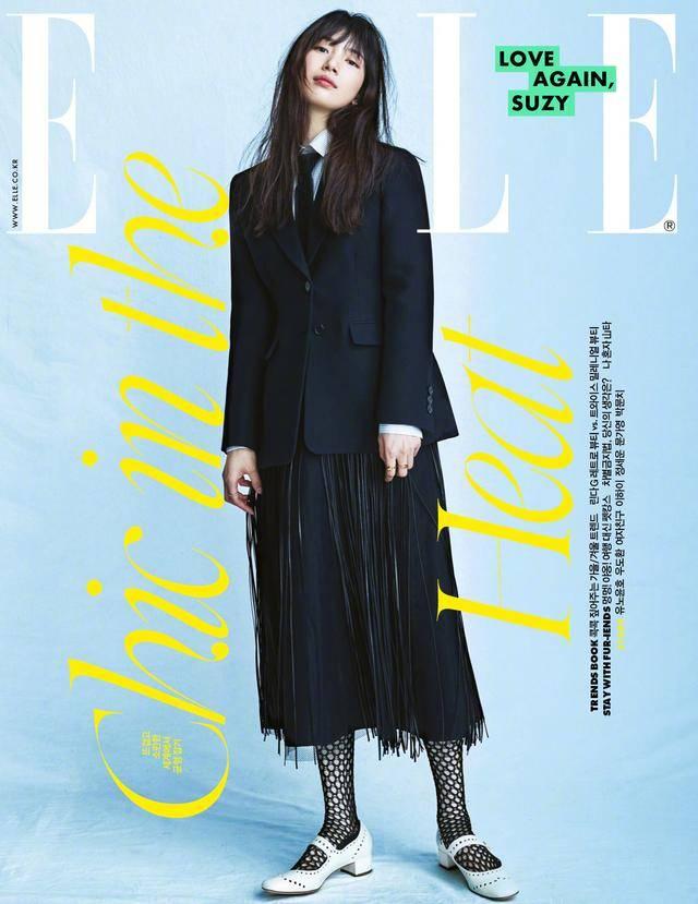 裴秀智最新时尚画报释出,落肩长发气质十足,极简穿搭有魅力