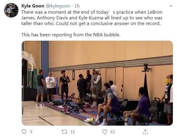 洛杉矶湖人队仍旧进行了球队的合训