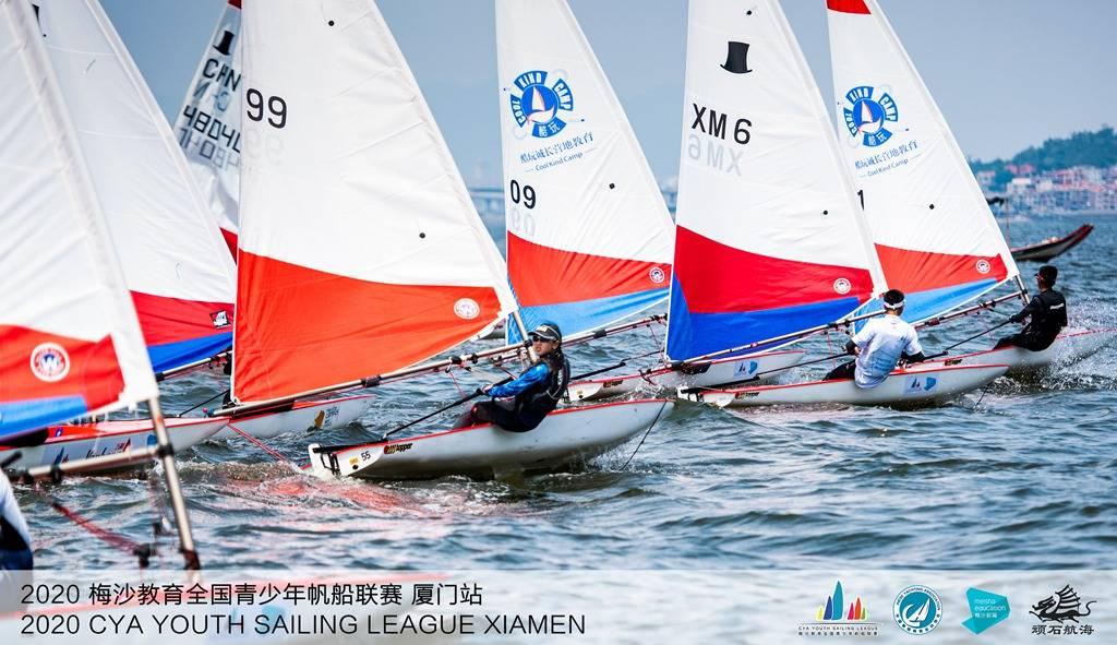 全国青少年帆船联赛厦门站同安湾起航 64名选手参赛