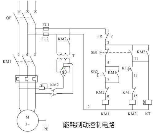 三相异步电能消耗制动控制原理及方法图!非机