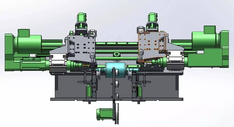 新能源电机平衡机结构示意图