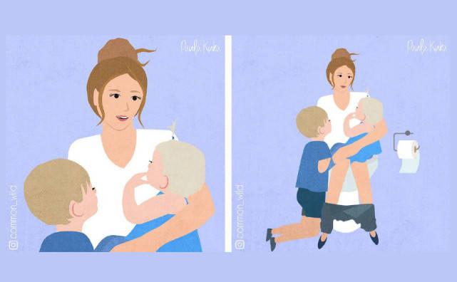 "ins上一位妈妈用漫画吐槽养娃不易,张张""戳心"",看看你中几个"