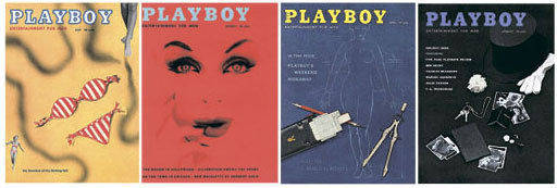 早期《花花公子》杂志的封面设计中,有相当一部分不仅没有情色意味,而且放在今天看,也丝毫不过时。