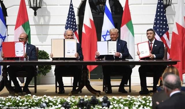 历史意义!特朗普在白宫主持了中东协议