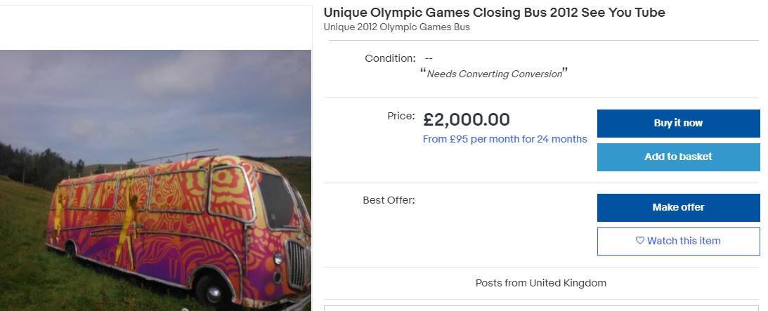 伦敦奥运会闭幕式彩漆车以2000英镑拍卖 柳州茶博会彩绘