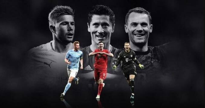 欧足联最佳球员教练候选:拜仁3人入选 莱