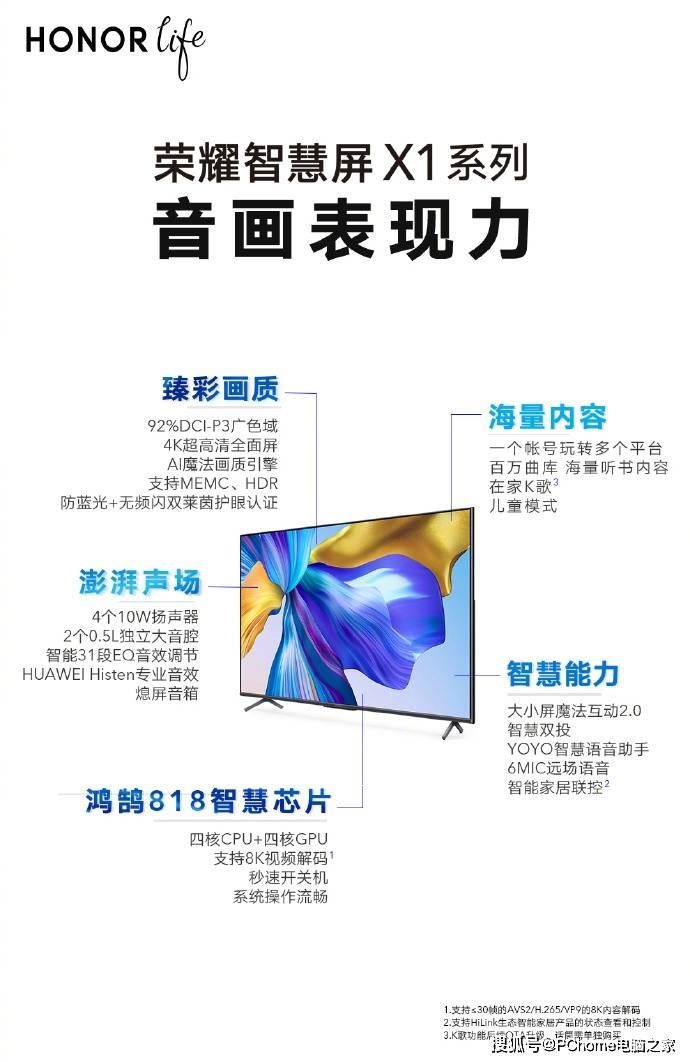 荣耀智慧屏X1引爆全网,国庆献礼售价2389元起