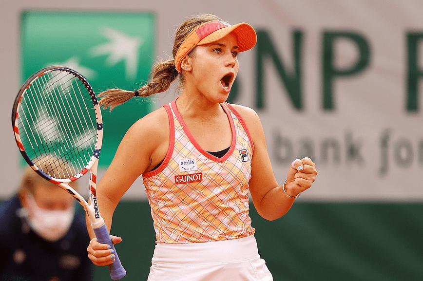 科宁直落两盘胜科维托娃 生涯首进法网女单决赛