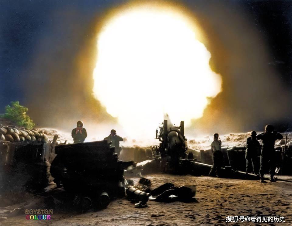 珍贵彩色老照片 炮火纷飞的朝鲜战争