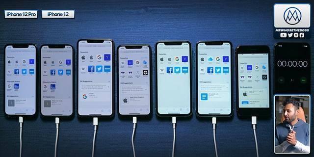 苹果iPhone 12/12 Pro对比的续航测试结果来了