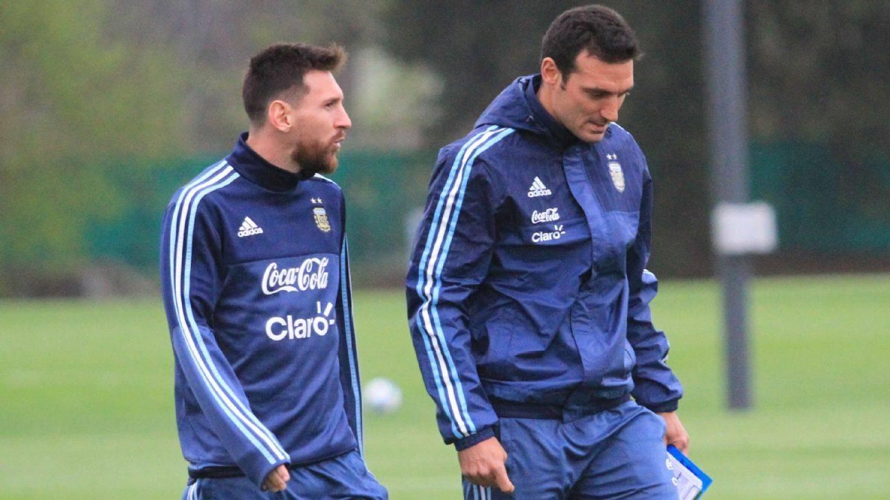 斯卡罗尼:尽管脚踝受伤,梅西仍然可以参加阿根廷的世界杯预选赛