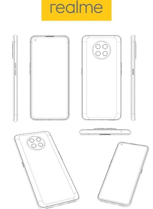 【速回收·聊数码】realme的一款手机设计专利图于近日在网络上被曝光