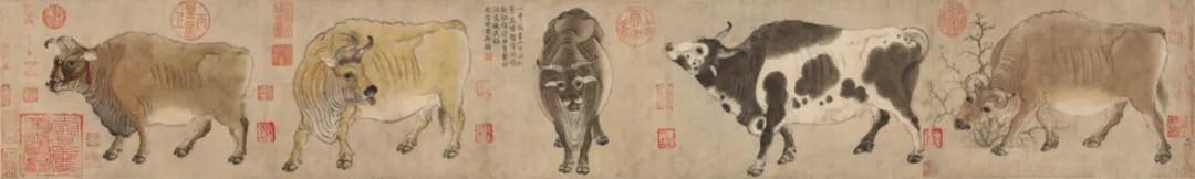 唐有韩滉五牛图,今有国宝五牛图 ——读著名画家刘中新作