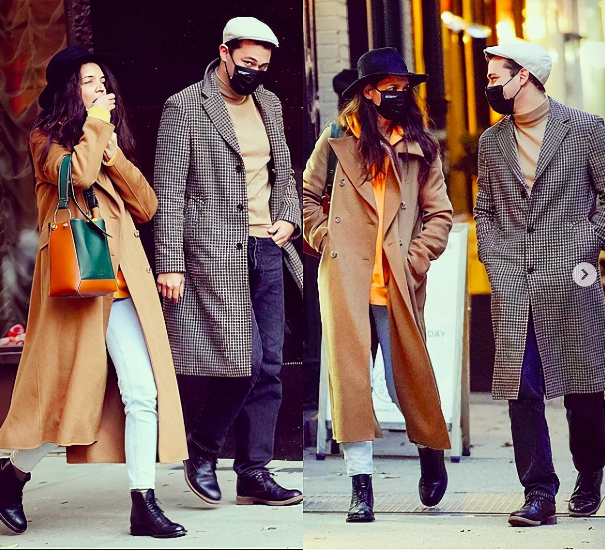 原创             前汤嫂穷人百变穿搭术,一件驼色大衣撑起一个冬天,每次都不同