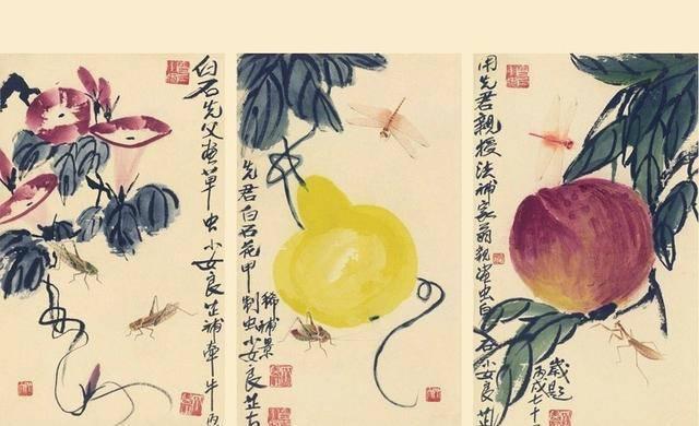 """齐白石画几只""""草虫"""",小女儿补画几笔,卖了3649万"""