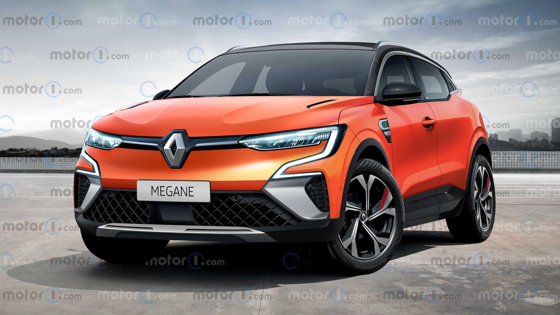 基于Megane eVision电动概念车的新雷诺Megane渲染曝光将于2021年发布