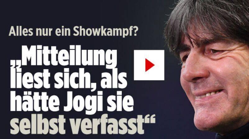 气坏了!图片报:德国足协的声明是勒夫自己写的吧
