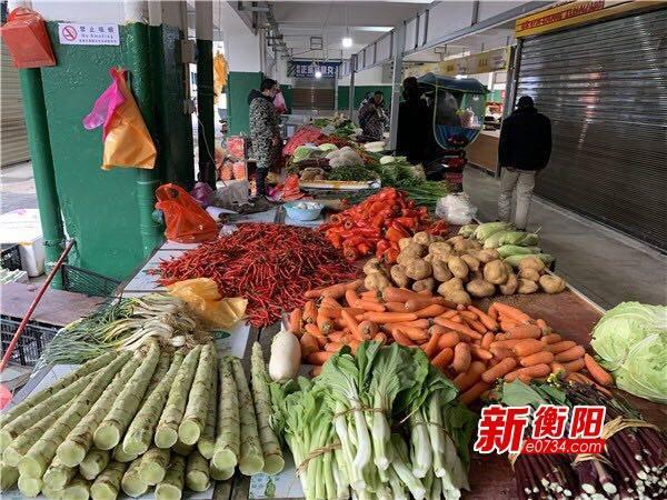 衡阳市粮油、蔬菜、肉类等生活必需品储备充足、价格平稳