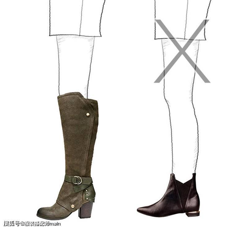 原创             买靴子不是越贵越好,学会按照腿型来挑选,才能显瘦显腿长