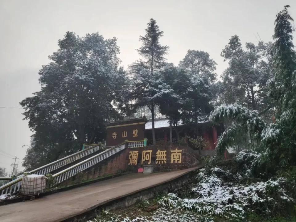 当江城彭山飘了一场雪,美醉了!