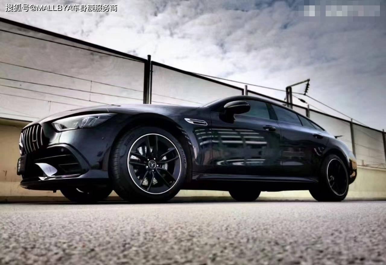奔驰AMG GT50变色,亮黑色,个性出众,优雅大方