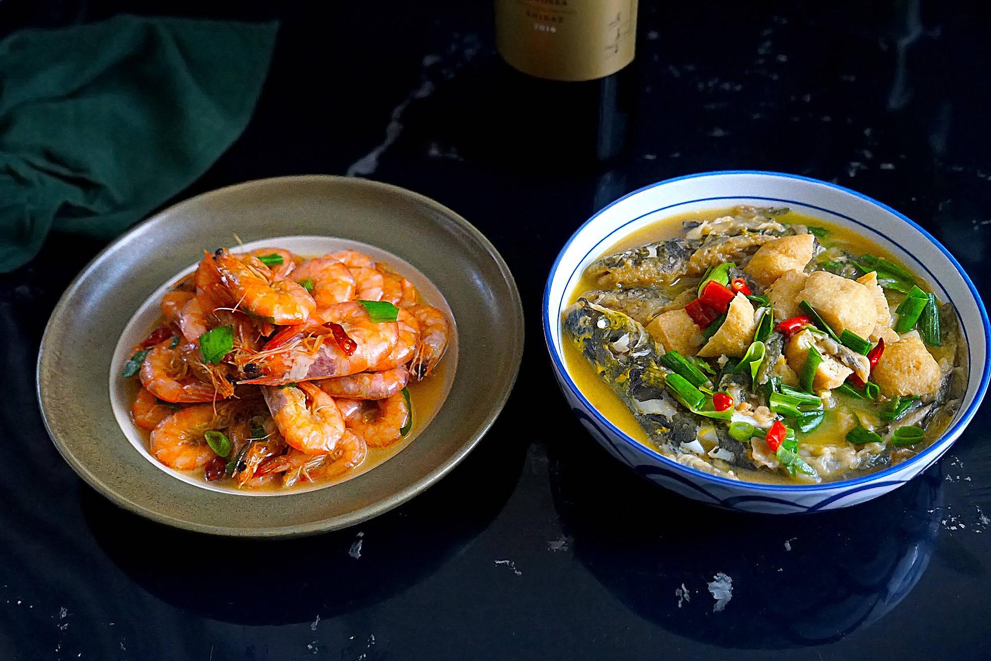 晒晒两口子的冬日午餐,简单又美味,好吃到汤都不剩,拒绝穷精致