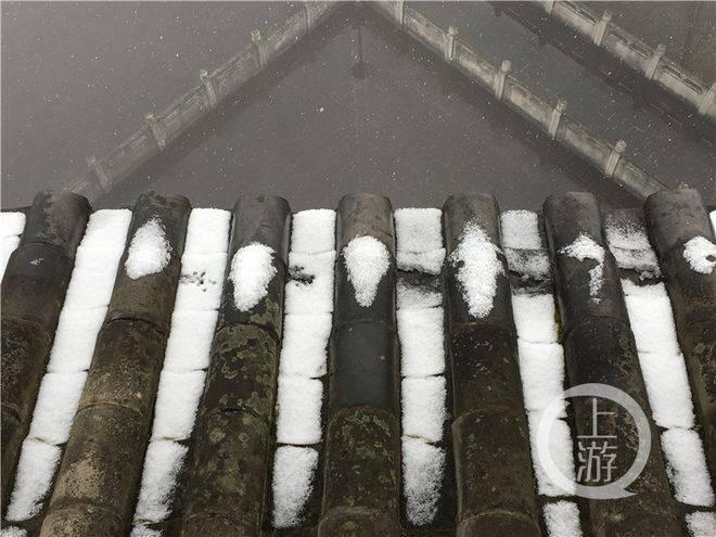 涪陵城区迎四年来最大降雪