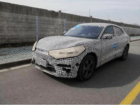2021上海车展曝光或上市的福特野马Mach-E路试谍照?