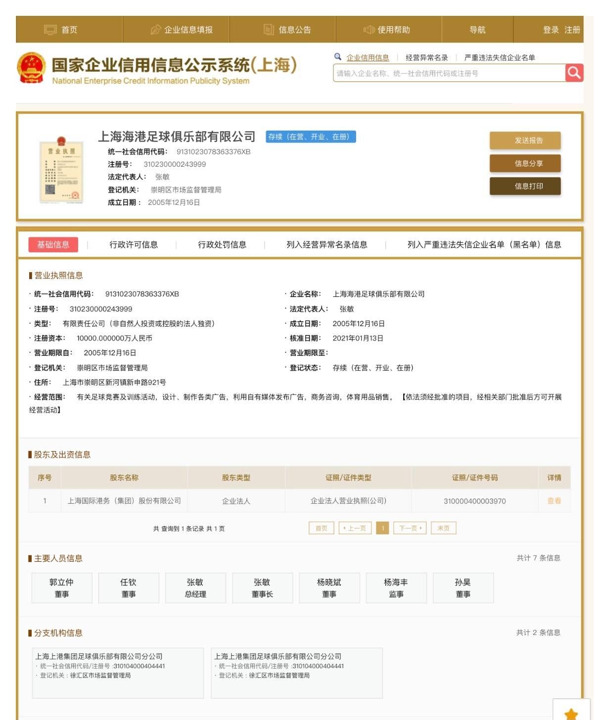 上港人士:新名字很有特色 若叫上海队争议会更大