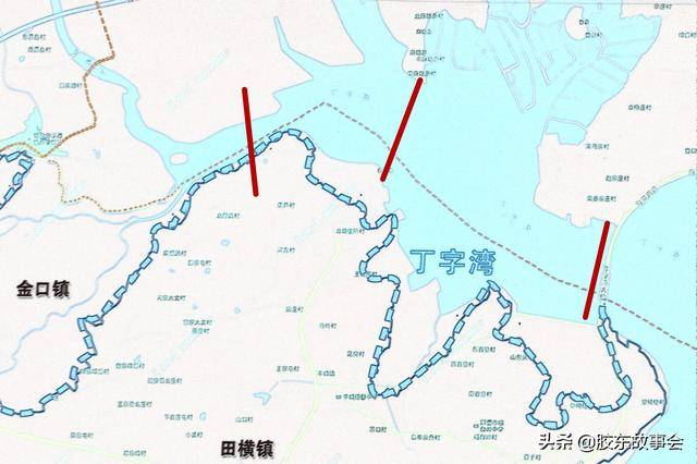 """组图:即墨七口和莱阳羊郡之间的海湾,看起来更像是""""河"""""""