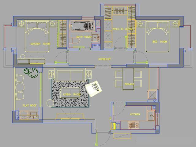 平面设计图   平面设计图:   平面布局上做了比较大的改动.