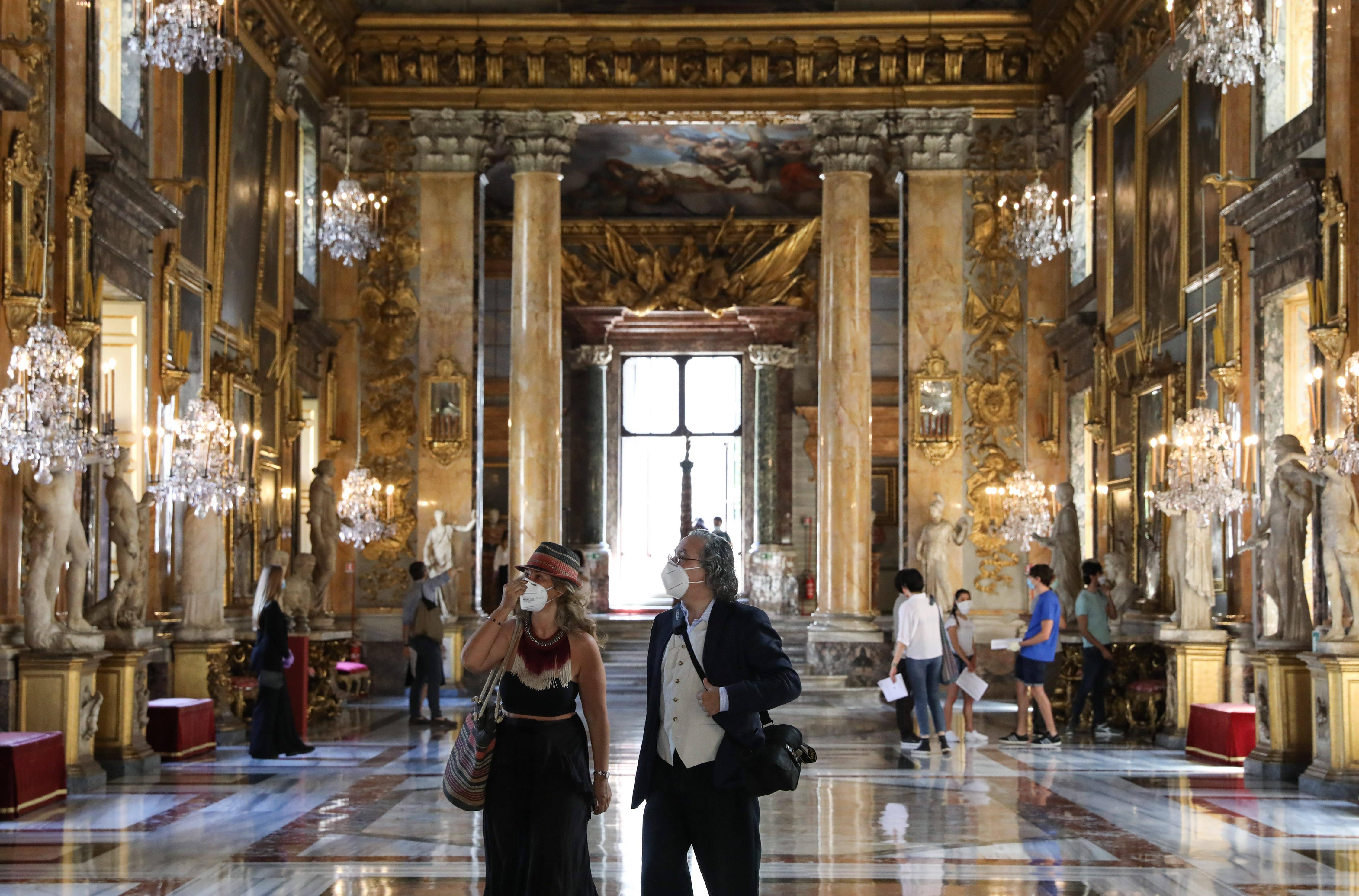 意大利罗马:科隆纳宫重新开放_中欧新闻_欧洲中文网