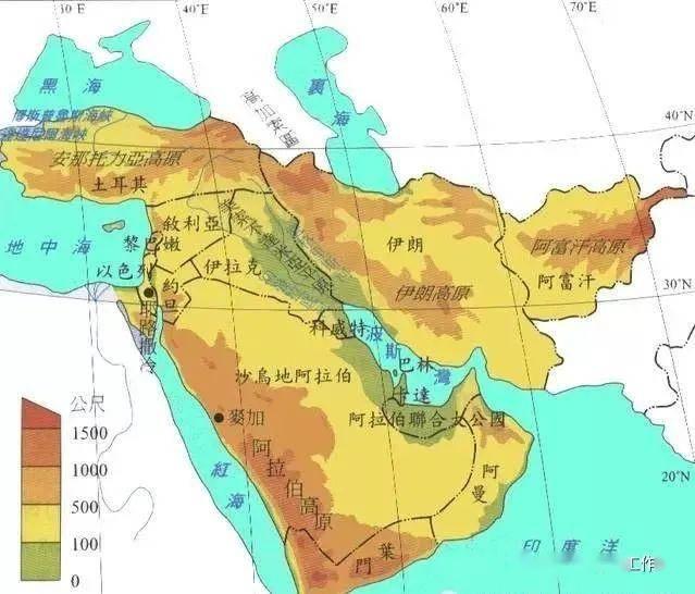 西亚北非国家经济总量_西亚与北非地图