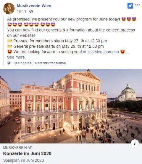 维也纳重启文化艺术活动两大名团将重返金色大厅