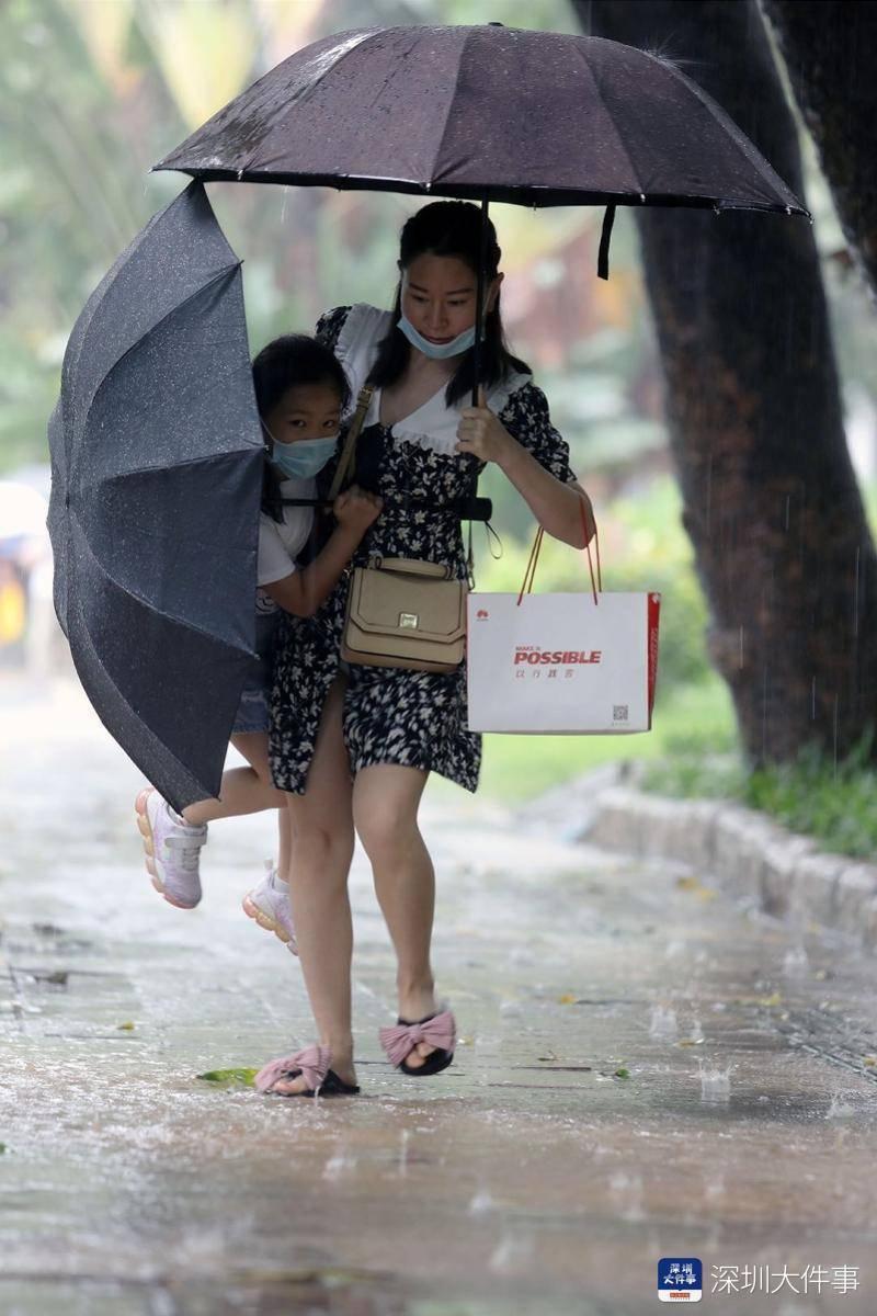 今明两天深圳还有暴雨到大暴雨,明天午后降雨将减弱